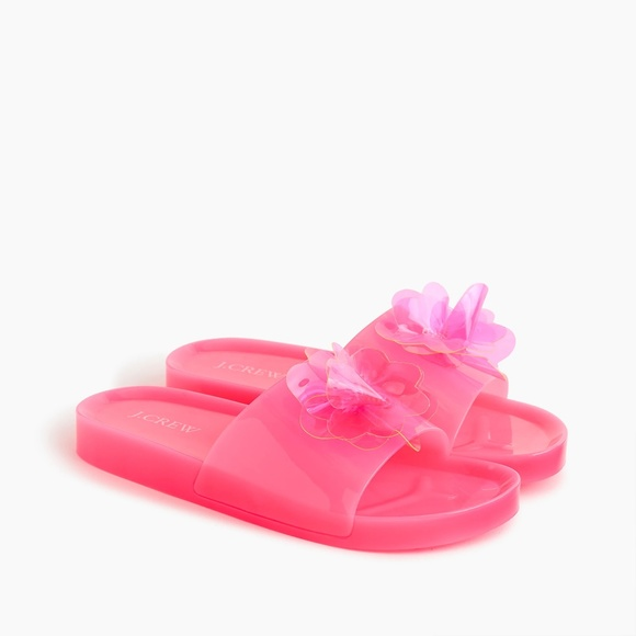 2c7389a97 NWT J. Crew Women s Pink Blossom Pool Slides